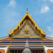 Bangkok, Thailand - AUG 31: Roof of a temple in Wat Phra Kaew, B — Stock Photo