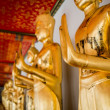 Bangkok, Thailand - AUG 31: Standing Thai Golden Buddha from Wat — Stock Photo