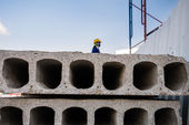 Ready-made cement wall for construction — Stock Photo