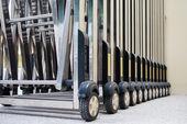 Skjutbara grinden hjul — Stock fotografie