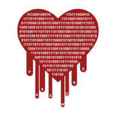 OpenSSL Heartbleed security breach symbol — Stock Photo
