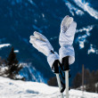 Skiing gloves — Stockfoto