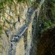 Old Inca's bridge near Machu Picchu — Stock Photo
