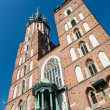 St. Mary's basilica in Krakow — Foto Stock