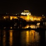 Vltava River and National Theatre — Stock Photo
