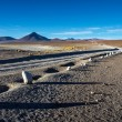 Gravel road on Altiplano — Stock Photo