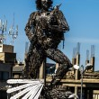 Stock Photo: Che Guevar- metal statue in El Alto