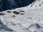 Silvretta arena skiresort — Stockfoto
