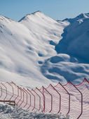 Skiing barriers — Stock Photo