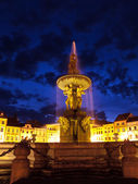 Samson fountain in Ceske Budejovice — Stock Photo