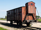 Transport vagon in Birkenau — Stock Photo