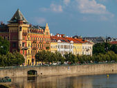 Smetana's Riverbank in Prague — Stock Photo