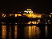Vltava River and National Theatre — Stock Photo