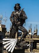 Che Guevara - metal statue in El Alto — Stock Photo