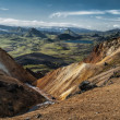 Icelandic landscape around Laugavegue trek — Stockfoto