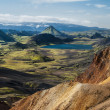 Stock Photo: Icelandic landscape around Laugavegue trek