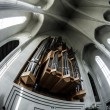 Organ pipes in Hallgrimskirkja — Stock Photo