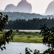 Li River in Yangshuo village — Stock Photo