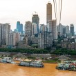 Yangtze river in Chongqing — Stock Photo