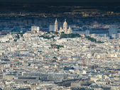 View of Montmartre and Sacre Coeur — Stock Photo