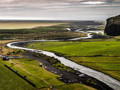 Meandering river — Stock Photo