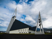 Modern church in Olafsvik — Stock Photo