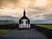 Black church — Stock Photo