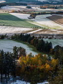 First snow on the fields — Stock Photo