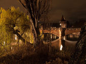 Nuremberg at night — Stockfoto
