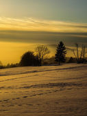 Winterabend — Stockfoto