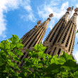 Sagrada Familia - famous cathedral in Barcelona — Stock Photo