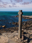 Stone cross at Diaz point — 图库照片