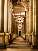 Mill colonnade at night — Stock Photo