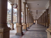 Mill colonnade in Karlovy Vary — Stock Photo