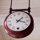 Old ceiling clock — Stock Photo
