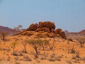 Orange rock formation of Damaraland — Zdjęcie stockowe