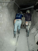 Hard work in silver mines — Stock Photo