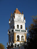 Colonial cathedral tower — Stock Photo