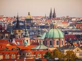 Prague towers panorama — Stock Photo