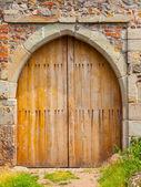 Wooden castle gate — Stock Photo
