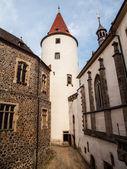 Big tower of Krivoklat Castle — Stock Photo