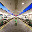 Stock Photo: Reportage: railways's italian train and Stations. Santa Maria Novella in Florence.