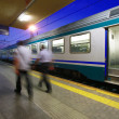 Reportage: railways's italian train and Stations. Chiusi and Chianciano station near Florence — Stock Photo