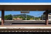 Reportage: railways's italian train and Stations. Orte Station (near Rome) — Stock Photo