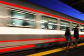 Reportage: railways's italian train and Stations. Venice (Mestre) Station — Stock Photo