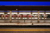 Reportage: railways's italian train and Stations. Santa Maria Novella in Florence. — Stock Photo