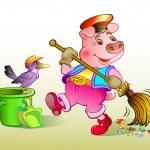 Постер, плакат: Piglet dustman