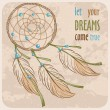 Stock Vector: Dreamcatcher card