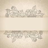 Gratulationskort med blommor — Stockvektor