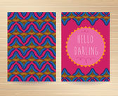 Decorative Cards — Stockvector